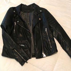 BLACKNYC Faux Moto Jacket